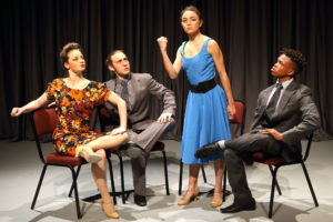 ROSA PARK  choreographed by William Jones                   Dancers (L-R) Shannon Hancock; Devin Butterworth; Margot Liebenberg; Elvis Nonjeke.