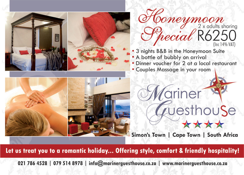 Accommodation Specials. Mariner Guesthouse. Simon's Town.